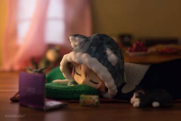 Super Sonico Fell Asleep by kixkillradio
