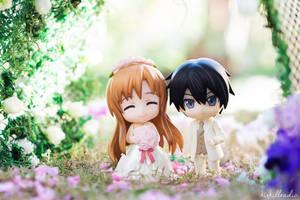 Asuna and Kirito Wedding Day by kixkillradio