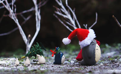Totoro and Friends on Christmas Day by kixkillradio