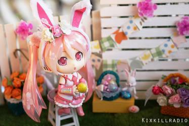 Easter Bunny Miku by kixkillradio