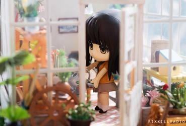 Miho in the Greenhouse by kixkillradio