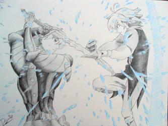 Gilthunder vs Meliodas by Dante947