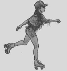 Roller girl by elcoruco1984