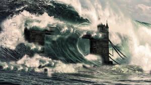 Tower Bridge - Tsunami by JSWoodhams