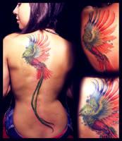 Fresh Quetzal Tattoo by KhristianDeMedich