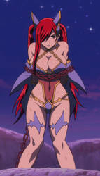 Erza tied up by mizuluffy2