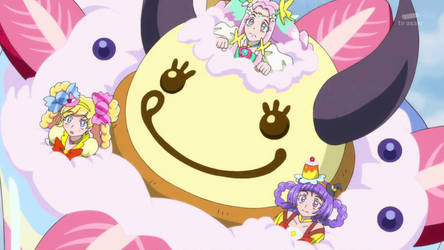 Cure Miracle, Cure Felice and Cure Magical trapped by mizuluffy2