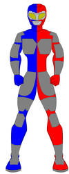 V.R Troopers - Battle Grid Mode - Red Blue by PowerRangersWorld999