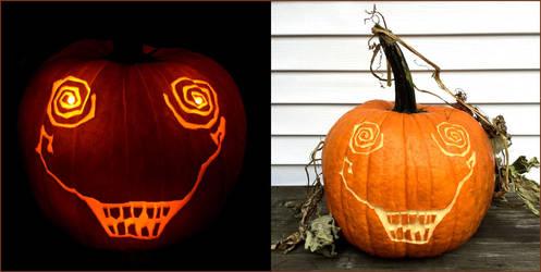 Crazy Face Pumpkin by Cuttlepluff