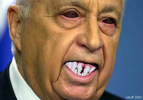 Ariel Sharon portrait by latuff