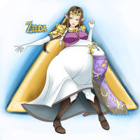 The Legend of Zelda Preggo - Zelda by Marrazan