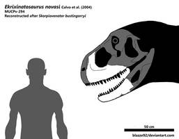 Explosion-born reptile (Ekrixinatosaurus novasi) by bLAZZE92