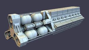 sci-fi cargo barge by jeffdejong