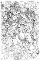 Avengers Initiative 19 inks by harveytolibao