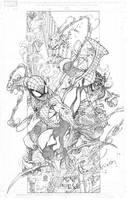 Spiderman Vs. Green Goblin by harveytolibao