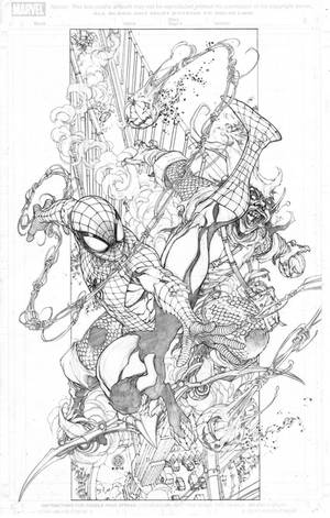 Spiderman Vs. Green Goblin by harveytolibao
