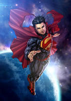 Superman New 52 with HMT Studios by harveytolibao