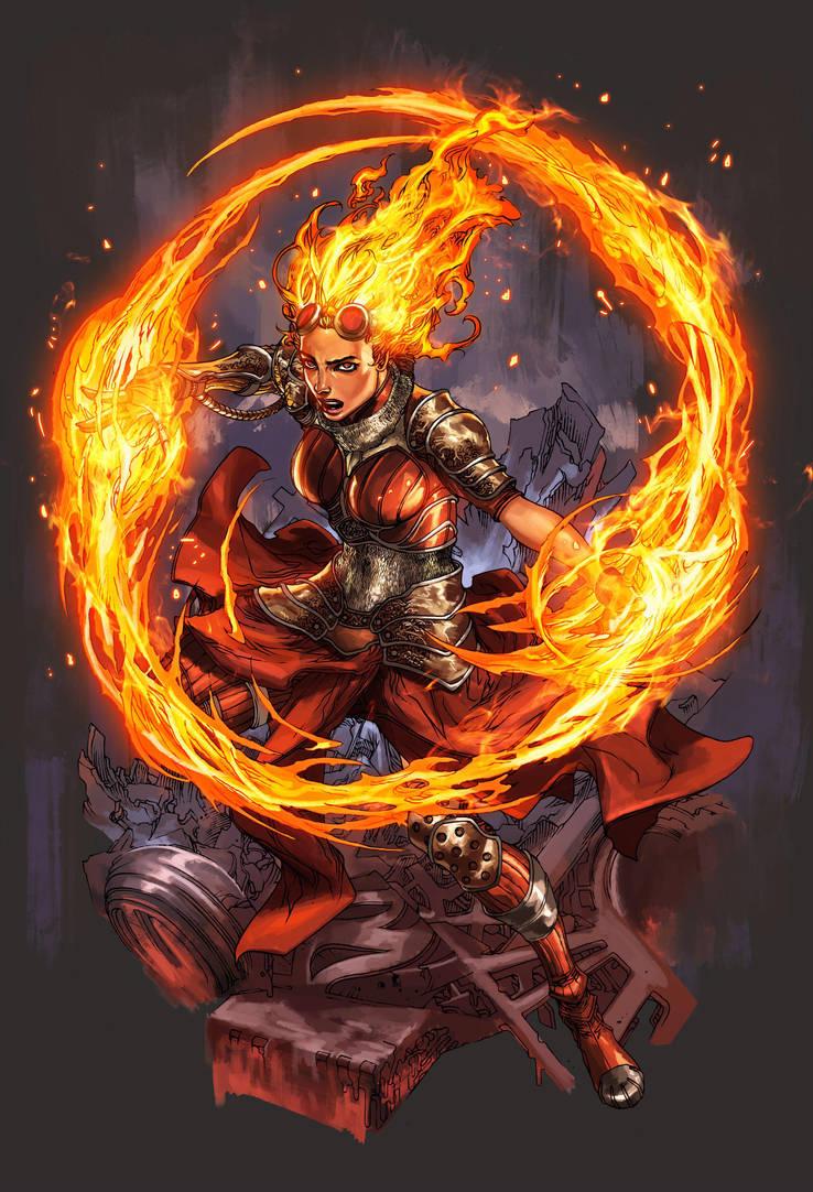 Chandra Magic : The Gathering by harveytolibao
