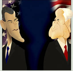 Obama-McCain Illustration by TheChairmanOfAwesome