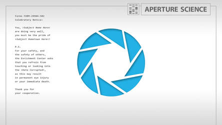 Aperture Science - Desktop by Orion5890