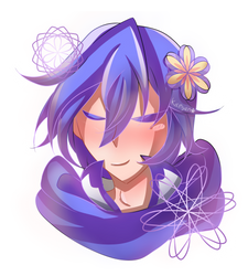 Another Kaikai doodle but with FLOWERS~ by KaiNyan