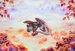Sleeping Toothless by RayoNeko