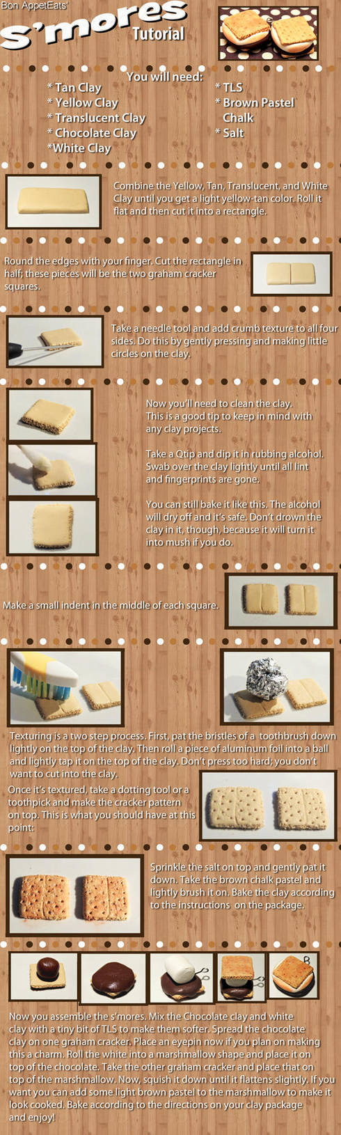 Tutorial - Polymer Clay S'mores by PepperTreeArt
