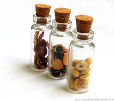 Bacon, Cookie, and Donut Charm Jars by PepperTreeArt