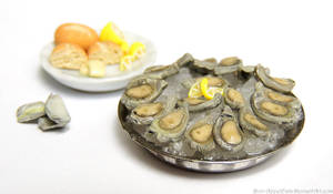 Oyster Platter by PepperTreeArt