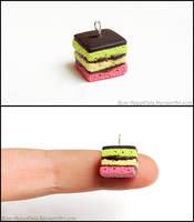 Italian Rainbow Cookie Charm by PepperTreeArt