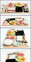 Sushi Prep Board by PepperTreeArt