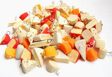 100 Cheese Charms by PepperTreeArt