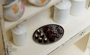 1:12 Valentine's Day Chocolate Tray by PepperTreeArt