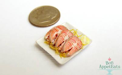 1:12 Raw Salmon Filets by PepperTreeArt