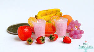 1:12 Fruit Smoothies by PepperTreeArt