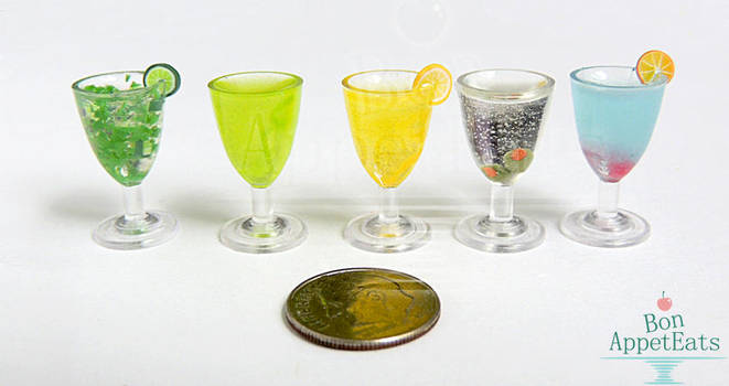 Commission - 1:6 Drinks by PepperTreeArt