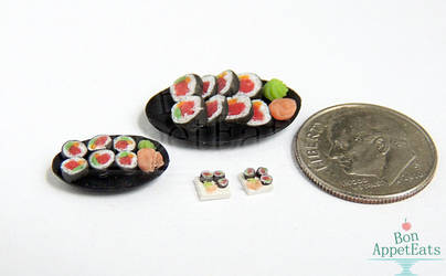 1:12, 1:24, 1:48 Sushi Plates by PepperTreeArt