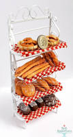 1:12 Bakers Rack with Bread by PepperTreeArt