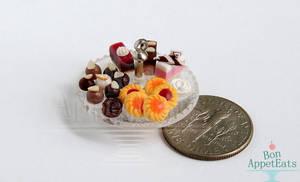 1:12 Single Tier Dessert Stand by PepperTreeArt