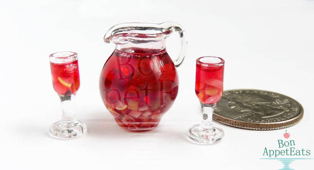 1:12 Sangria Set by PepperTreeArt