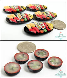 1:12 Sushi Platters and Miso Soup by PepperTreeArt