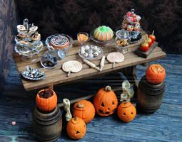 1:12 Halloween Dessert Table 2013 by PepperTreeArt