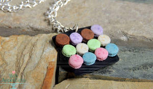 Gift - 1:12 Macaron Plate Necklace by PepperTreeArt