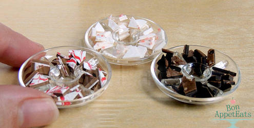 1:12 Assorted Christmas Chocolate Bark by PepperTreeArt