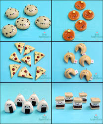 Animate!Miami Cute Food Charms, Set 1 by PepperTreeArt