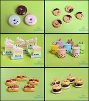 AnimateMiami Cute Food, Set 2 by PepperTreeArt