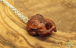 Roast Chicken Necklace by PepperTreeArt