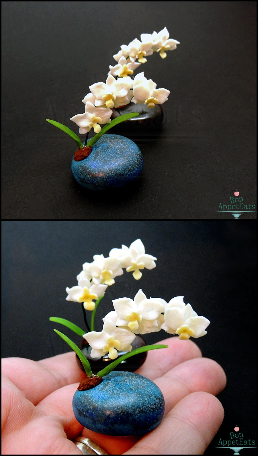Mother's Day Gifts - Miniature Orchid Pots by PepperTreeArt