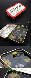 Auction Ended - Large Altoids Tin Koi Pond by PepperTreeArt