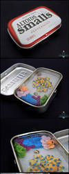 Commission: Octopus Altoids Smalls Tin by PepperTreeArt